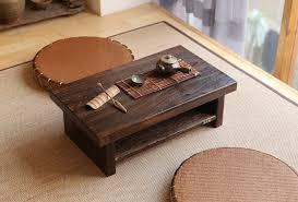 oriental antique furniture design japanese floor tea table small size 6035cm living room wooden cheap oriental furniture