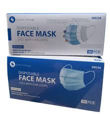 <b>Disposable</b> mask (<b>50 pieces</b>) | Spectrum Uniforms