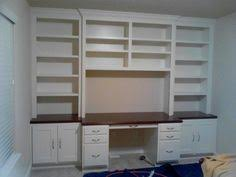 a diyers delight in a colonial revival remodel stock cabinets shelves and moldings built in office