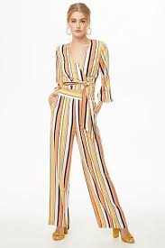 Striped Crepe Palazzo Pants | Bellas <b>hot 8</b> in 2019 | Two piece outfit ...