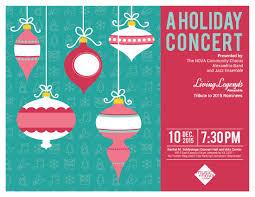 nova alexandria music ensembles to play holiday concert holiday flyer