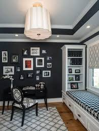 good color for office. bold black home office good color for