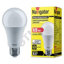 <b>Лампа светодиодная LED 15вт</b> Е27 белый (71365 NLL-A60 ...