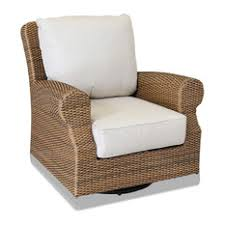 sunset west outdoor furniture santa cruz swivel rocking club chair with cushions canvas flax beach style patio furniture