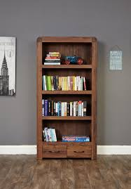 solid walnut hidden home office shiro shiro walnut large 2 drawer bookcase atlas oak hidden home