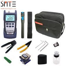 <b>12 PCS</b>/<b>set Fiber Optic</b> FTTH Tool Kit with SKL 8A Fiber Cleaver and ...