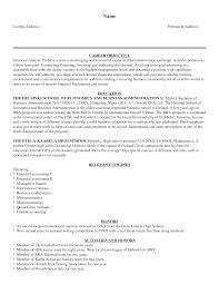 financial analyst resume sample com financial analyst resume sample for a resume sample of your resume 19