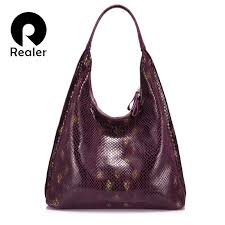 REALER women handbags serpentine prints <b>shoulder bags</b> for ...