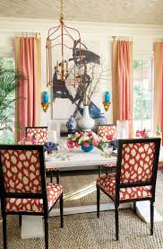 decor linen fabric multiuse: in the dining space eddie ross developed for our summer  catalog he combined suzanne kaslers peony pink linen drapery panels with our lime green tape