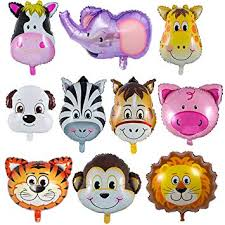 LAKIND Zoo Animal Balloons - 10 Pieces Jungle ... - Amazon.com