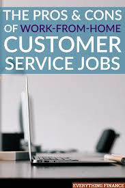 pros and cons of work from home customer service jobs