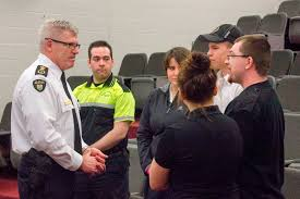 opp commissioner speaks to high school students at northern students from o gorman high school roland michener secondary school timiskaming district secondary school and timmins high vocational school attended