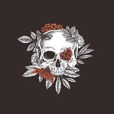 <b>Floral Skull</b>. <b>Vintage</b> Floral Skeleton. Vector Illustration Royalty Free ...