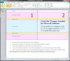 guides and resources for making candy wrappers in microsoft word blank candy wrapper templates for microsoft publisher 2010