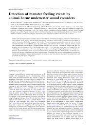 (PDF) Detection of <b>manatee</b> feeding events by <b>animal</b>-borne ...