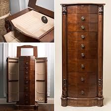 amazoncom hives and honey henry iv walnut jewelry armoire kitchen dining amazoncom antique jewelry armoire