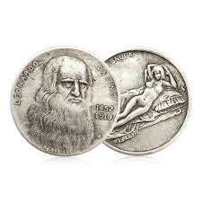 <b>1pcs Leonardo Da Vinci</b> Commemorative Coin Antique Imitation ...