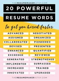 ideas about resume templates on pinterest   resume    resume power words  free resume tips  resume template  resume words  action words