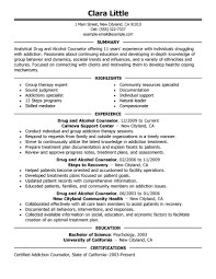 best drug and alcohol counselor resume example livecareer create my resume