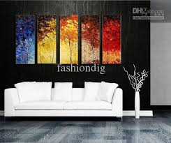 stretched abstract landscape knife oil painting canvas ready to hang thick oil artwork handmade modern home office hotel wall art decor gift art for office walls