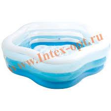 <b>INTEX</b> 56495 Надувной семейный бассейн с надувным полом ...