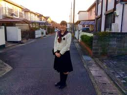 high school in a day in the life lincoln academy eve corbett wearing the winter uniform required by her high school in okayama