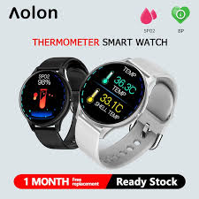 Aolon <b>K21</b> Thermometer Full Round Screen Heart Rate And Blood ...