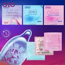 OLO 3pcs/Box Hyaluronic Acid Condom Natural Latex Delay ...