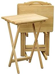 5 Piece TV Tray Snack Dinner Folding Table Set ... - Amazon.com