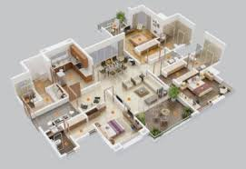 Bedroom Luxury Home Plans        Home Plan Design     Bedroom ApartmentHouse Plans