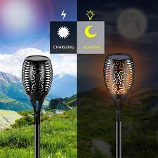 Solar Torch Lights Outdoor Flame 96 LED, Ibbyee ... - Amazon.com