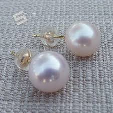 free shipping 14 white solid gold 10 11mm aaa drop south sea pearls dangle earrings
