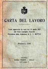 Risultati immagini per carta del lavoro 1927