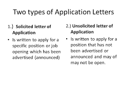 Rejecting an Application and Acknowledging Unsolicited Applications