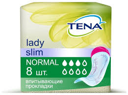 Урологические <b>прокладки TENA Lady Slim</b> Normal 760800 (8 шт ...