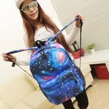 Shop Women <b>Canvas Backpack</b> Stylish Galaxy <b>Star</b> Universe Space ...