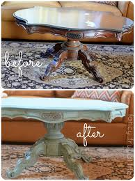 before and after annie sloan coffee table makeover chalk paint coffee table