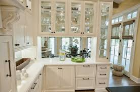 glass kitchen cabinets doors: view in gallery glass front kitchen cabinets set in a wooden frame