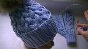 Вязание <b>шапки</b> узором <b>коса</b> с тенью с 15 петель - YouTube