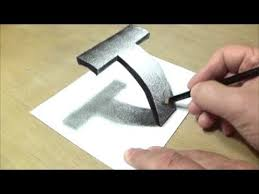 Very Easy - Drawing <b>3D</b> Letter <b>T</b> - Trick Art with Pencil - By Vamos ...