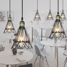 <b>Retro Iron Pendant</b> Light Cage DIY Industrial Classic Black <b>Nordic</b> ...