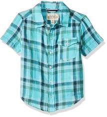 Lucky Brand Boys' Short Sleeve Button Down Shirt ... - Amazon.com