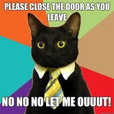 Please Close The Door Cat Meme - Cat Planet   Cat Planet via Relatably.com