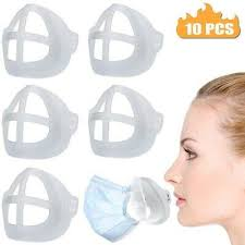 10X <b>3D Mask</b> Silicone Bracket <b>Face</b> Cover <b>Inner</b> Support Frame ...