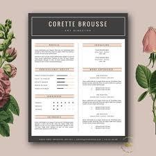 creative resume template   feminine resume   free cover letter for    creative resume template    page cv template and free cover letter   mini st resume for