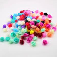 <b>50PCS</b>/BAG Artificial <b>Flower</b> Head Handmade DIY Wedding Home ...