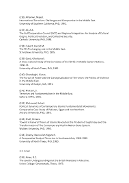 Bibliography of Terrorism Theses