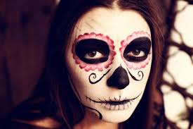 this look is light on intricate dels and heavy on skeletal pouting and with under ten sugar skull makeup tutorial day of the dead