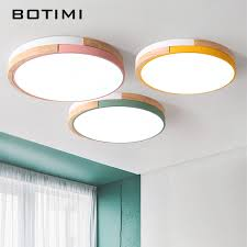 <b>BOTIMI</b> 220V <b>LED Ceiling</b> Lights Modern <b>Round Ceiling</b> Mounted ...