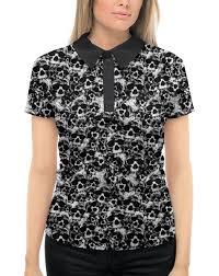 """Рубашка Поло с полной запечаткой """"<b>Камуфляж</b> """"Черепа ..."""